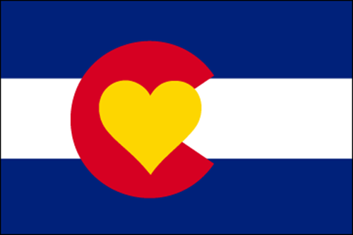 Colorado Love flag - Outside border - small