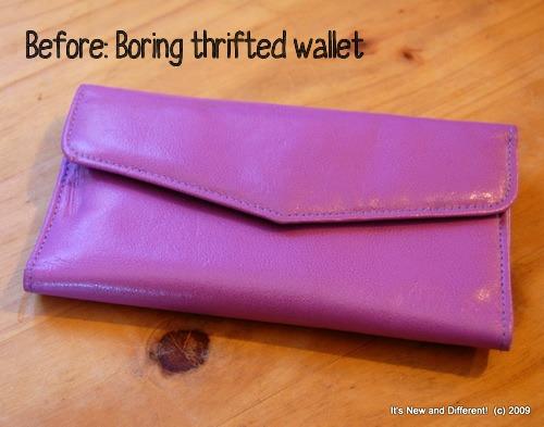 November 2011 - Pink wallet makeover (1)