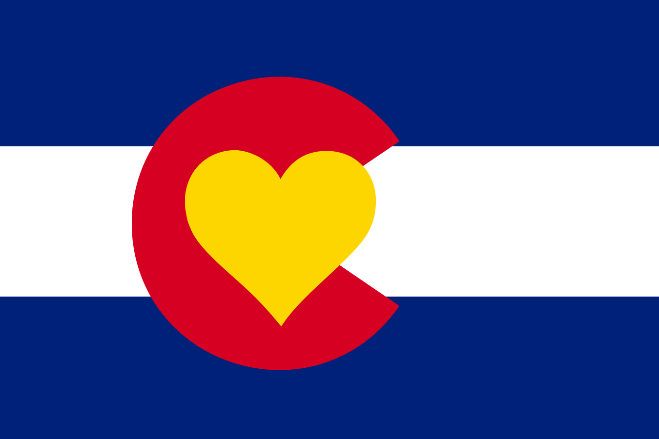 Colorado Flag With Heart colorado love flag - it's new and different ...