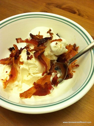 bacon on ice cream